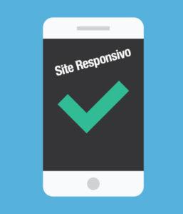 tela de um celular para mostrar site responsivo