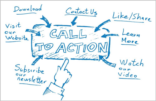 landing pages como funciona - call to action