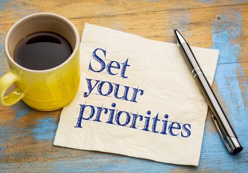 alinhe suas prioridades e objetivos