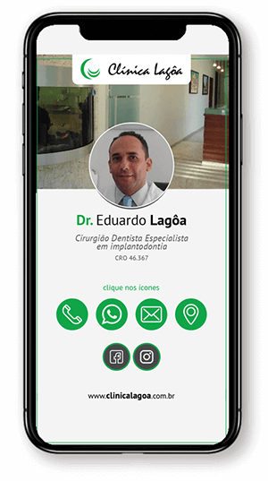cartao de visitas digital clinica lagoa